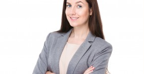 Business woman with arm crossed